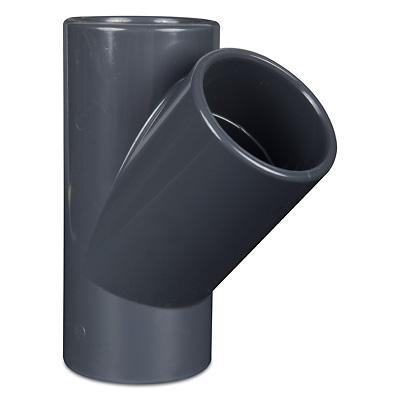 PVC Rohr T Stück 45° mit 3x Klebemuffe
